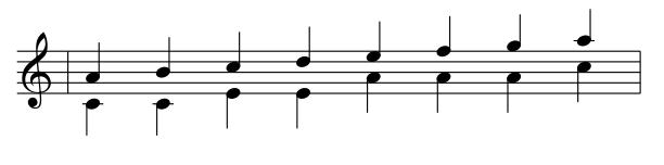 Beispiel für Tintinnabuli-Kompositionstechnik