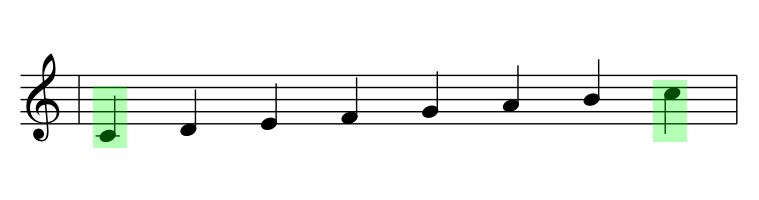 C-Dur Rahmentöne