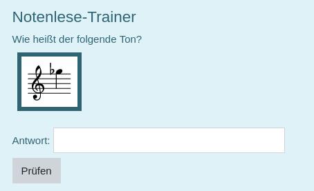 Notenlese-Trainer